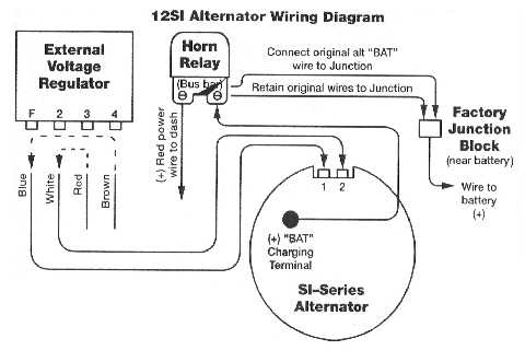 external to internally regulated alternator conversion