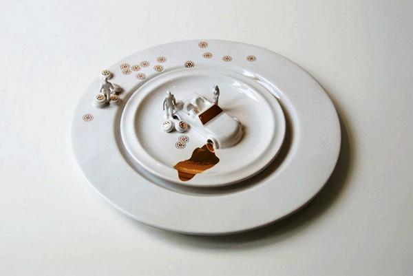 Five Stars Crockery, автомобильная арт-посуда Джудит Монтенс (Judith Montens)