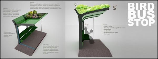 Автобусная остановка для птиц