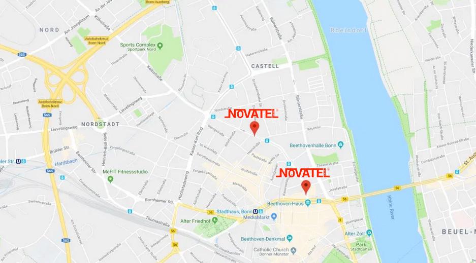 Novatel Anfahrt