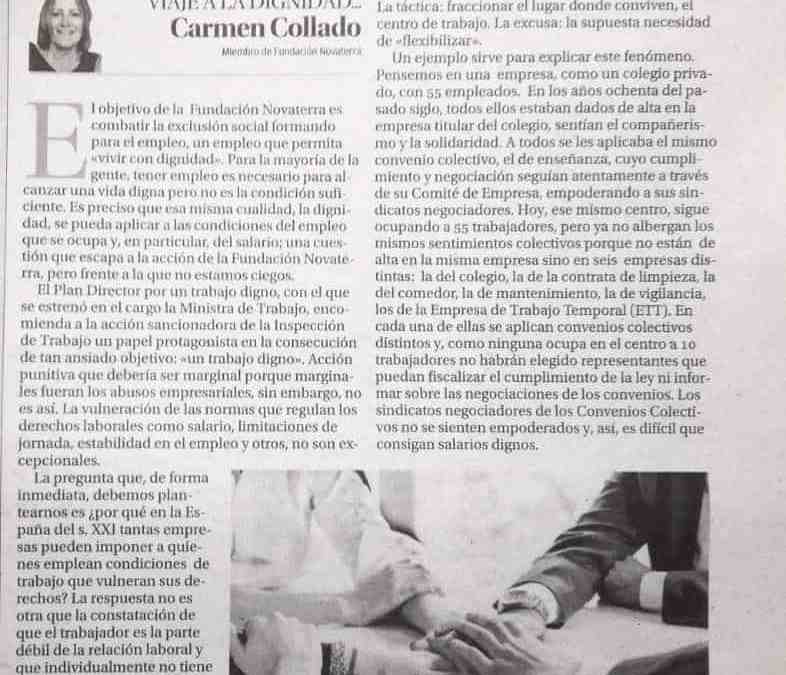 Carmen Collado «Empoderar a los trabajadores para lograr un trabajo digno»
