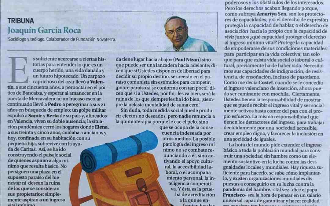 """Ximo García Roca: """"Caminante con mochila"""""""