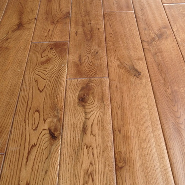 Prefinished White Oak Floors With Matching Stair Treads | White Oak Stair Treads Near Me | Hardwood Flooring | Quarter Sawn | Lowes | Wood | Staircase Railings