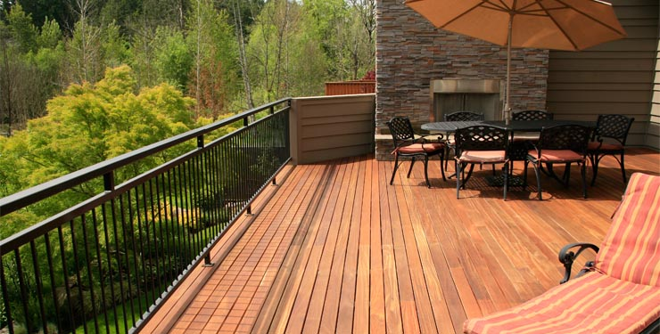 exotic deck wood