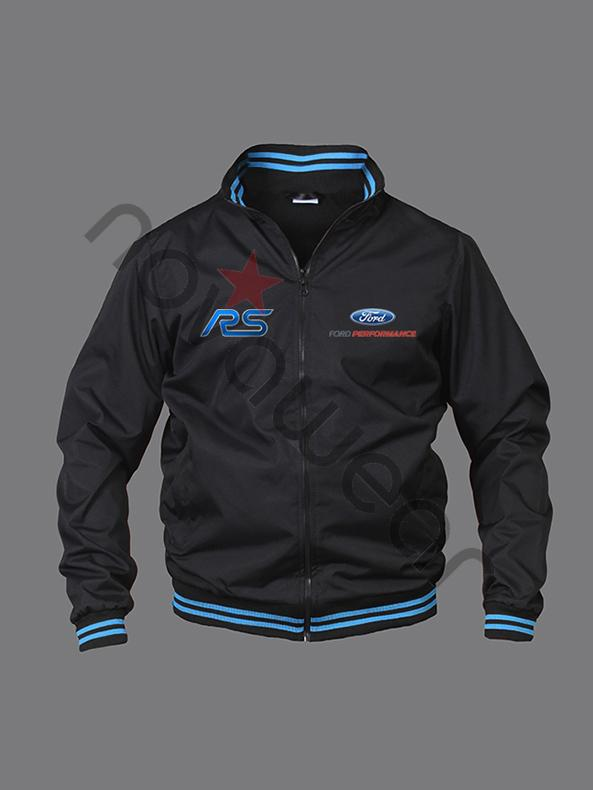 Ford RS Bomber Jacket Black Ford Clothing Ford RS
