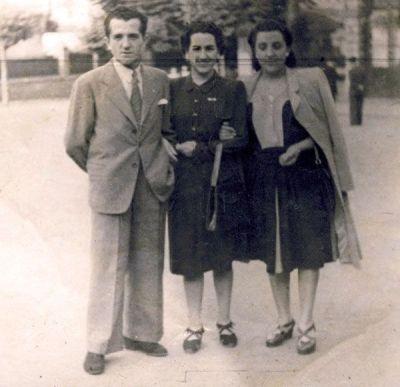 Santi el día de su boda con M. Ángeles Capilla