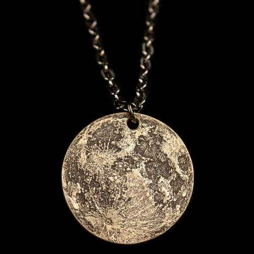 Harvest Moon Brass Necklace