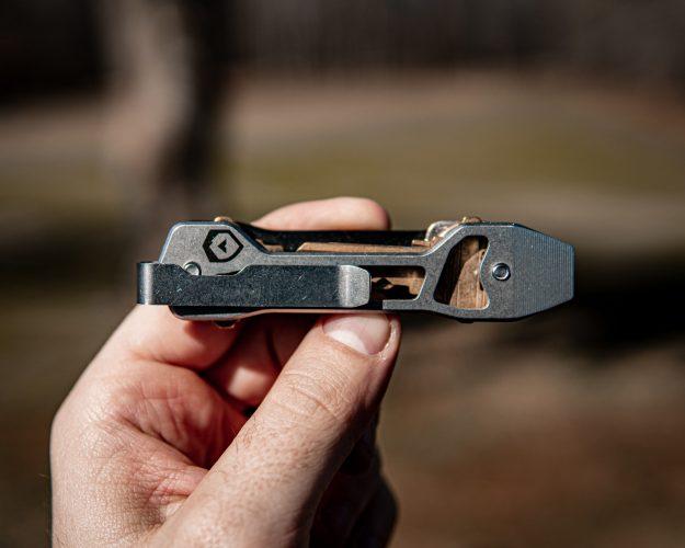 Trayvaxx Keydex Key Organizer Steel Prybar Side with keys