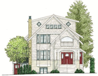 This is an example of a five dwelling home designed for Making HOME by the City of Vancouver.