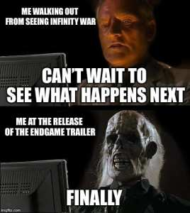 Avengers Endgame Infinity War