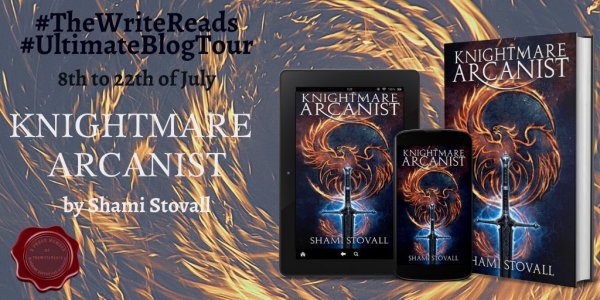 Knightmare Arcanist Write By Shami Stovall Reads Blog Tour Banner