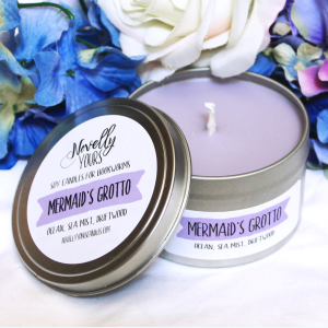 Mermaid's Grotto | 8oz tin | Novelly Yours Candles