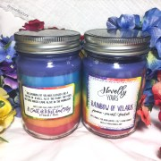 Rainbow of Velaris | 12oz jar | Novelly Yours Candles