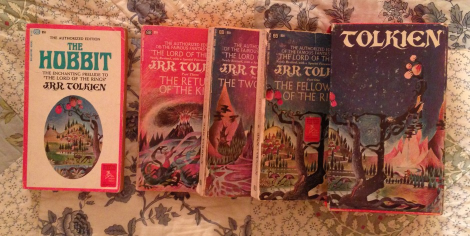 J. R. R. Tolkien's The Hobbit and the three volumes of The Lord of the Rings