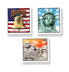 Patriotic Stamp Cutouts (3/pkg)