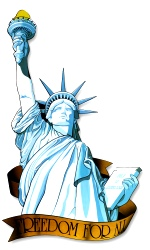 Miss Liberty Cutout 33""