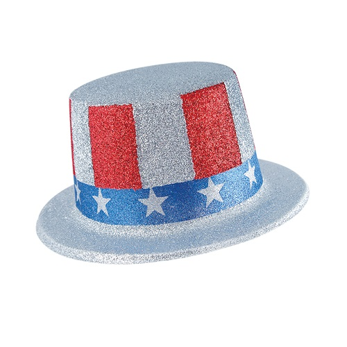 USA Glittered Top Hat