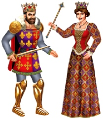 Royal King And Queen Joined Cutouts 91.44 cm (2 in a pack)