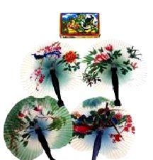 Oriental plastic hand held Fan 14cms