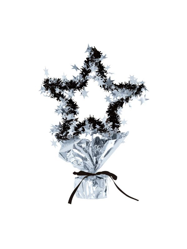 Star Gleam 'N' Shape Centrepiece Silver And Black (Quantity 1)