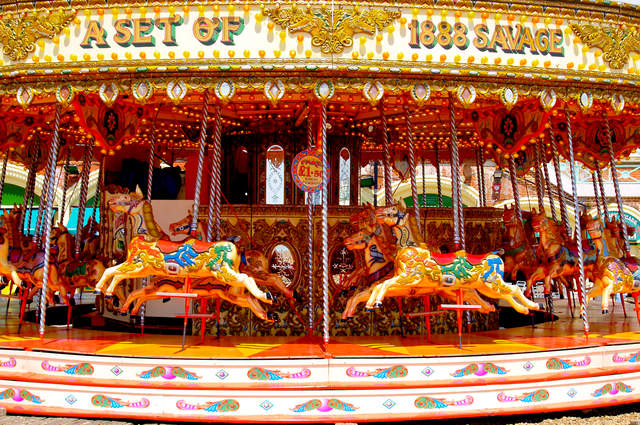 Fairground supplies carousel image by Brian S (via Shutterstock).