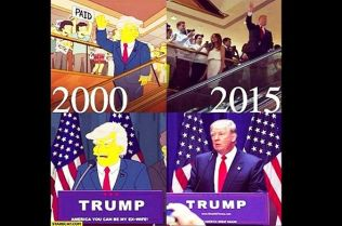 Image result for the simpsons donald trump