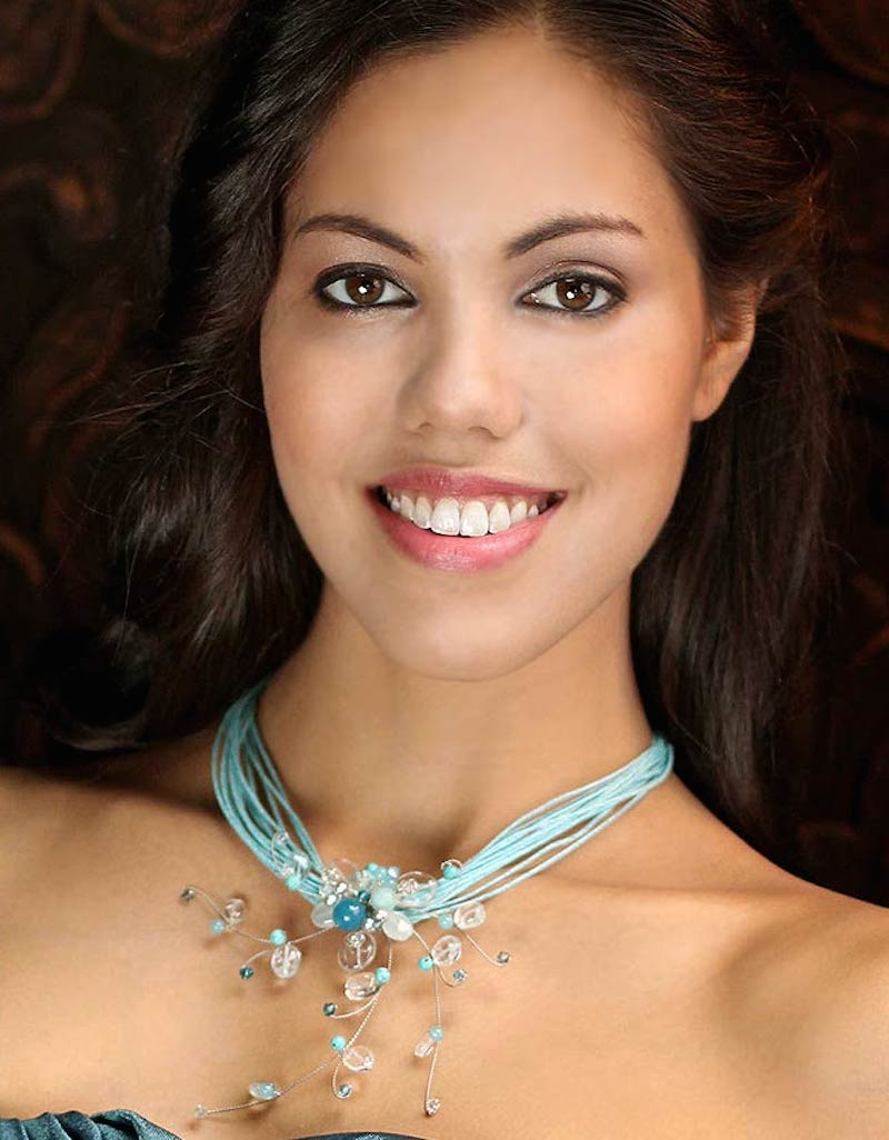 Floral Quartz Necklace, 'Floral Joy' Update Jewelry Collection Handmade Art NOVICA