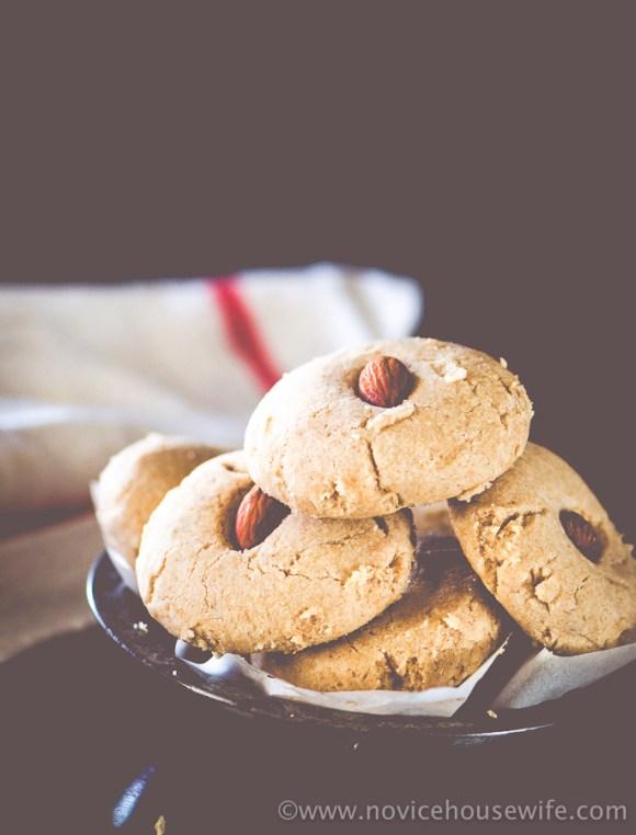 Whole Wheat nankhatai | The Novice Housewife