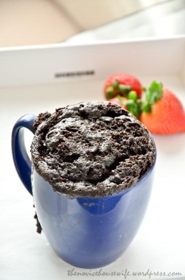 Nutella Mug Cake- 5 minute mug cake for a quick chocolate fix.