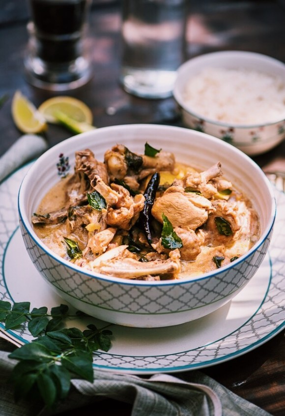 Kerala style chicken stew: a gluten free dish that is easy to make and packed with flavor.