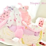 DIY craft: Diaper Motorcycle & Diaper Baby Carriage
