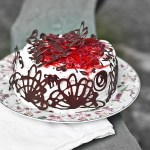 Glorious Sponge Cake with Champagne Roasted Strawberry Whipped Cream