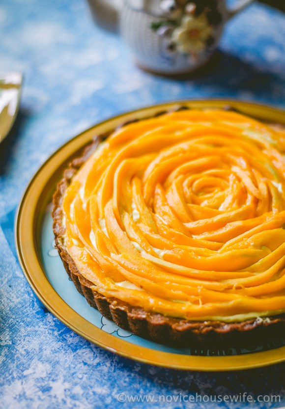 Mango Lime Tart | The Novice Housewife