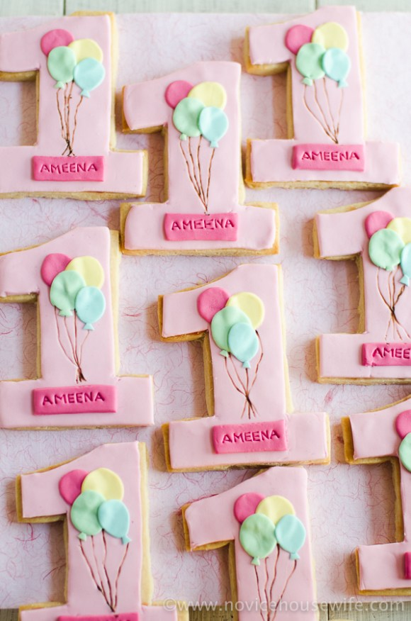 Number Sugar Cookies | The Novice Housewife
