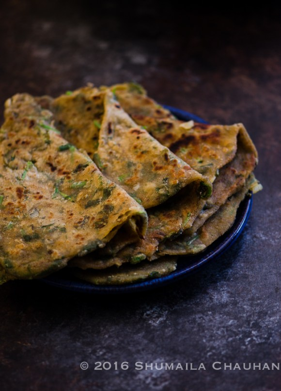 Methi Parnatha/ Wholewheat Fenugreek Flatbread