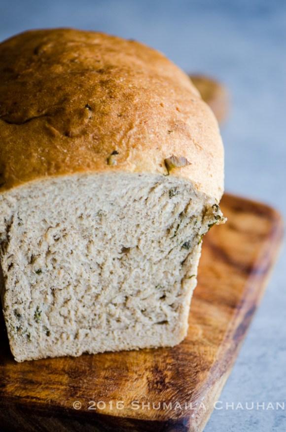 Basil and Parmesan Spelt Bread