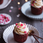 Red Velvet Cupcakes with Cream cheese frosting (Video Recipe)