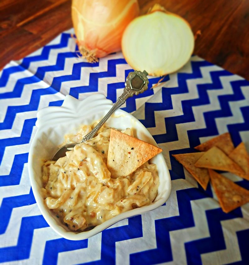 Tortilla Chips and Caramelized Onion Dip