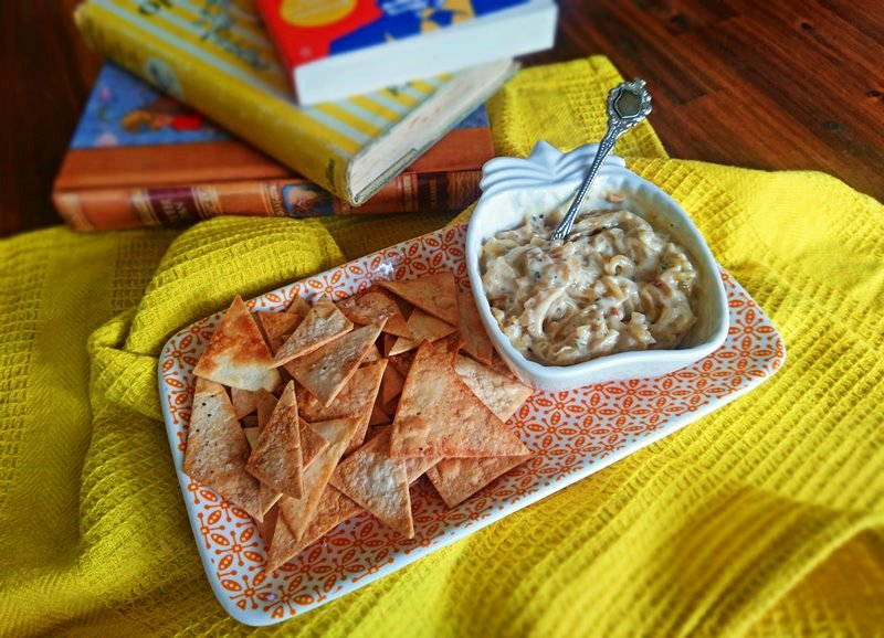 Tortilla Chips and Onion Dip