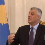 """Tači: Granica između Albanije i Kosova mora da """"bude uklonjena jednom za svagda""""."""