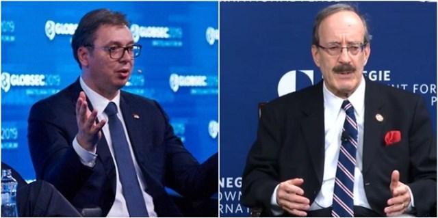 Vučić se sastao sa kosovskim lobistom kongresmenom Eliotom Engelom