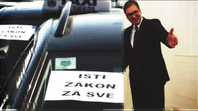 Vučić danas u 14 sati sa taksistima