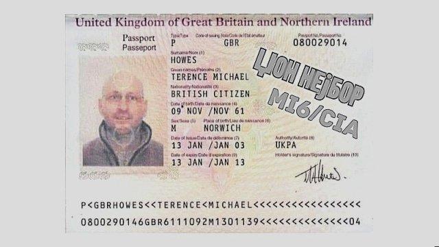 Džon Nejbor - pasoš