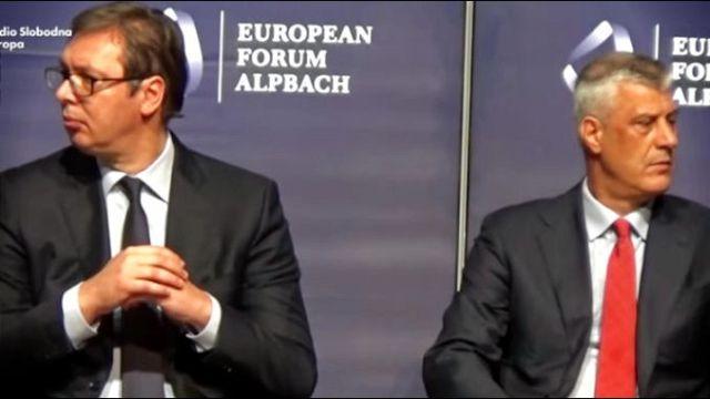 """Detalji nacrta sporazuma predstavljenog Vučiću i Tačiju u Beloj kući: Korekcija granice ili """"Zajednica plus"""""""