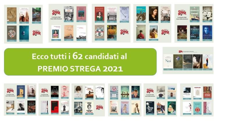 62 candidati al premio Strega 2021