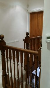 door and balustrade