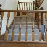 stained balustrading