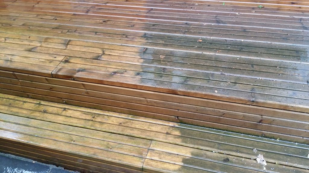 power wash timber