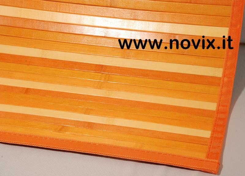 tapis bambou orange 55x280 cm