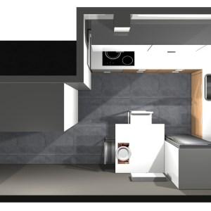 2715 Estudiar y valorar cocina integrada de 11 a 12 m2
